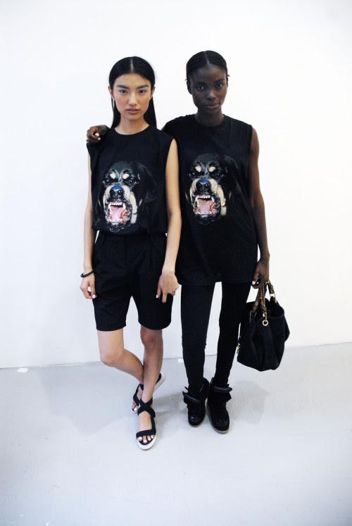 nyfw2012:  Givenchy twins. © AJ Trela 2012