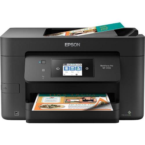 Epson WorkForce Pro WF-3720 All-in-One Inkjet Printer, 4800x2400 - Print, Copy, Scan, Fax