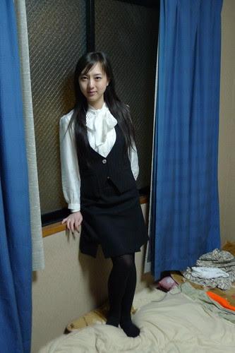 Kiki in her Pachinko worker uniform
