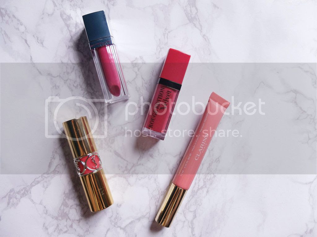 lipstick YSL Bourjois Maybelline Clarins