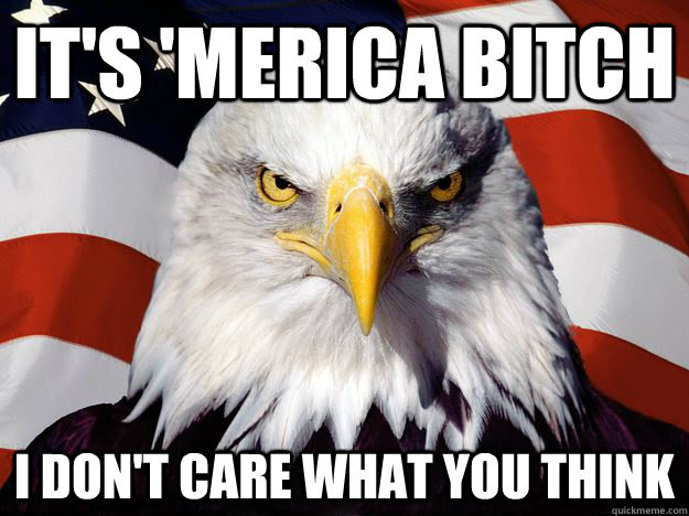 Its Merica Bitch I Dont Care What You Think One Up America