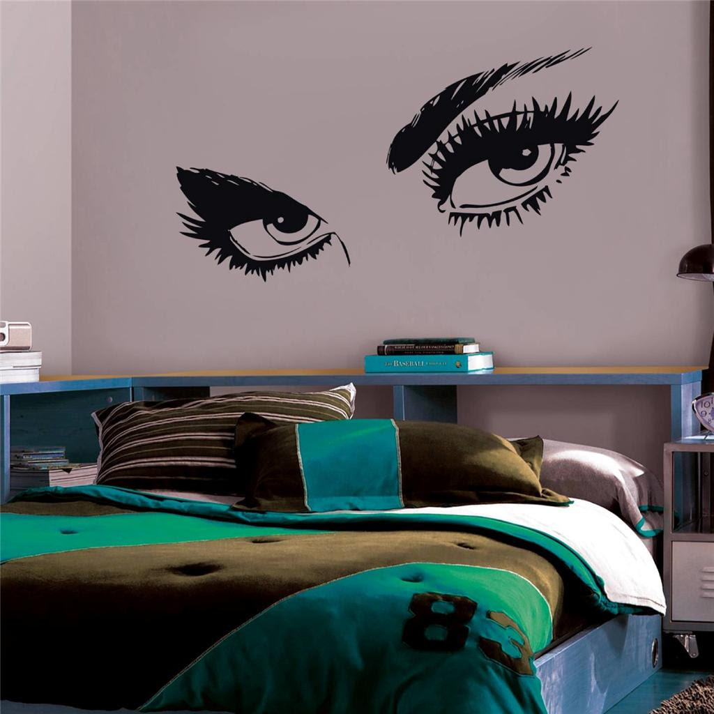 Woman Eyes Decal Wall Sticker Home Decor Vinyl Stencil Bedroom Transfer ST47  eBay