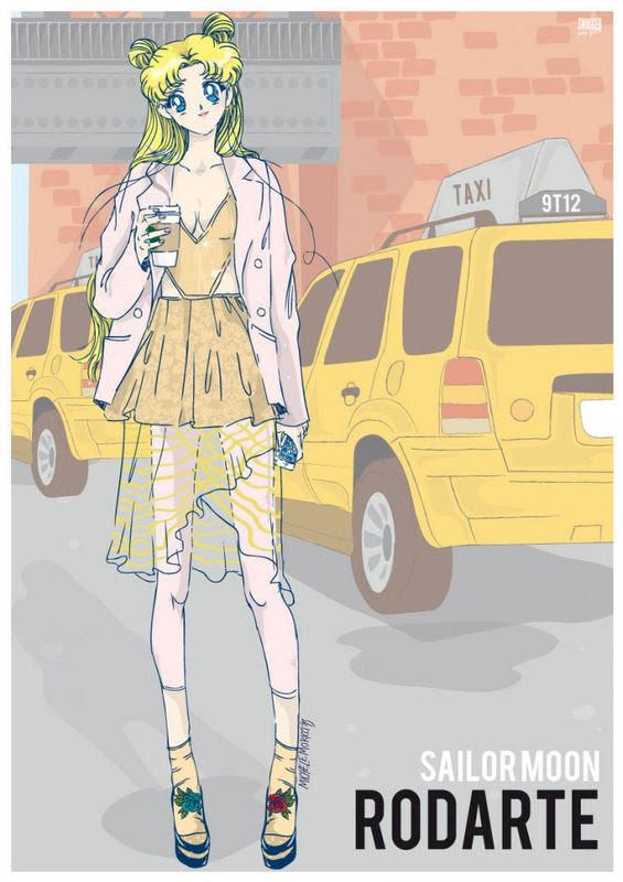 Nyファッションを身にまとった90年代の人気アニメキャラクターたち Kconf
