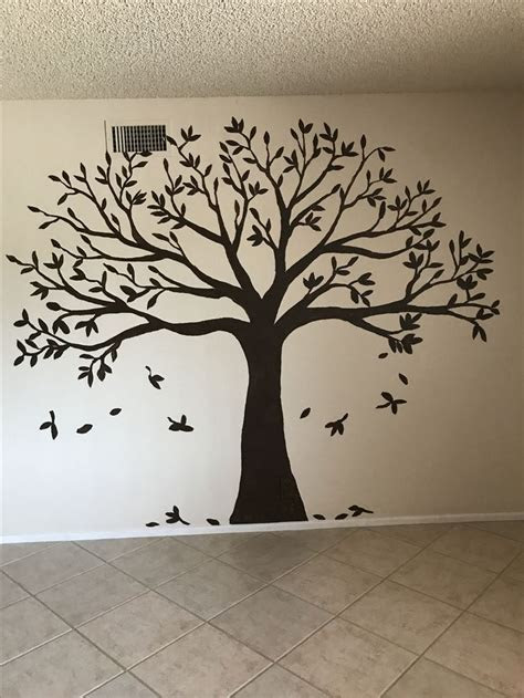dark brown flat paint family tree family tree wall