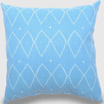 Oversize Square Sayulito Outdoor Pillow Blue - Opalhouse , White Blue