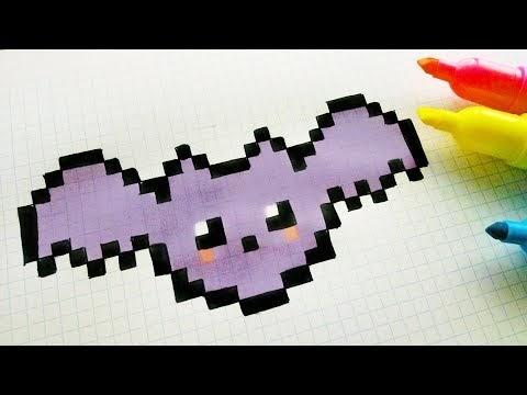Handmade Pixel Art How To Draw A Kawaii Bat Pixelart