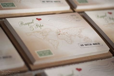 Love's Journey Vintage Map Travel Theme   Real Weddings