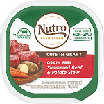Nutro Petite Eats Small Breed Adult Dog Food, Natural Beef and Potato - 3.5 oz tub