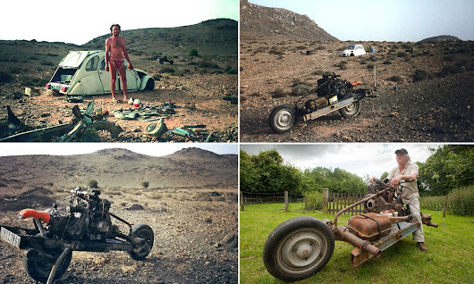 The real Tony Stark: How French electrician stranded in Moroccan desert rebuilt his wrecked car as a motorbike and drove back to civilisation