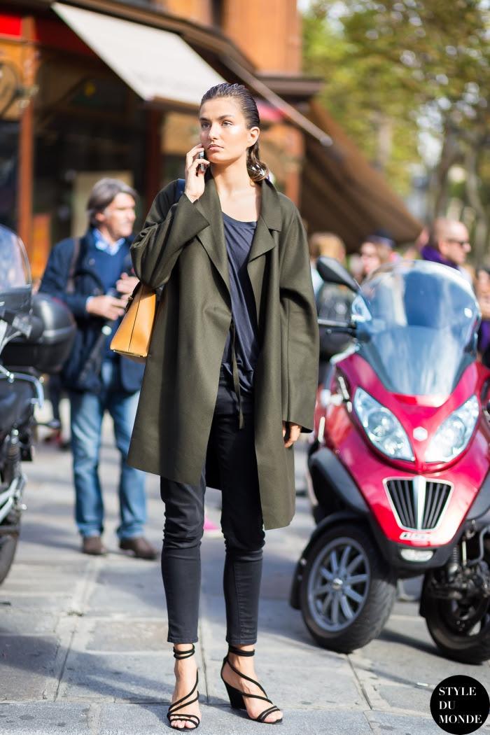 Andreea Diaconu Street Style Street Fashion Streetsnaps by STYLEDUMONDE Street Style Fashion Blog