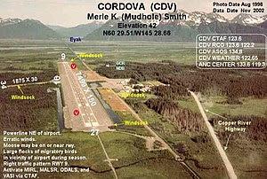 Oblique-East aerial photograph of (FAA: CDV) i...