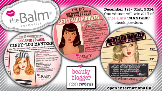 December 2014 Beauty Giveaway - theBalm
