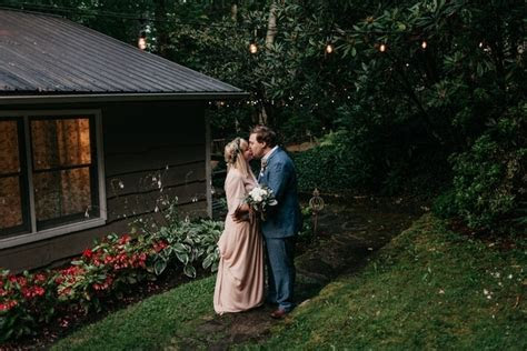 Melissa and Dan's Little Wedding in the Woods   Intimate
