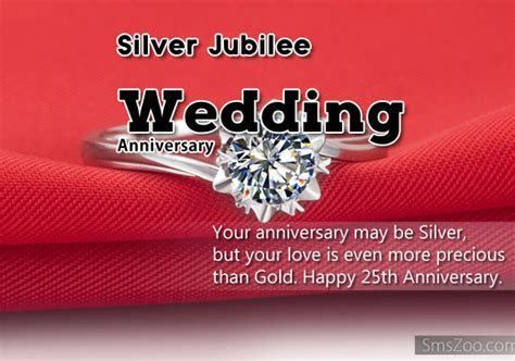 Silver Jubilee Wedding Anniversary Quotes   Best Wishes