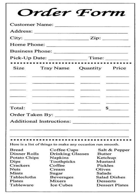 Wedding Cake Order Form   catering business   Cake order