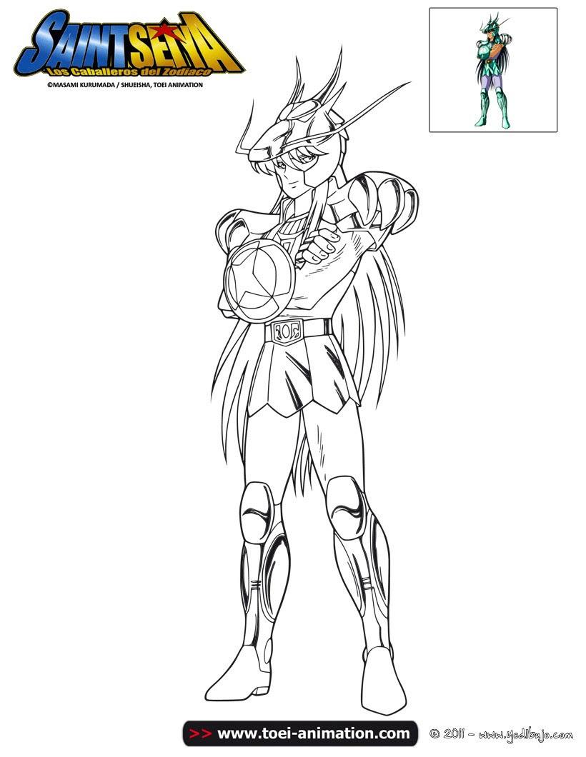 Dibujos Para Colorear Shiryu De Dragón Eshellokidscom