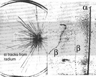 a cloud chamber in action