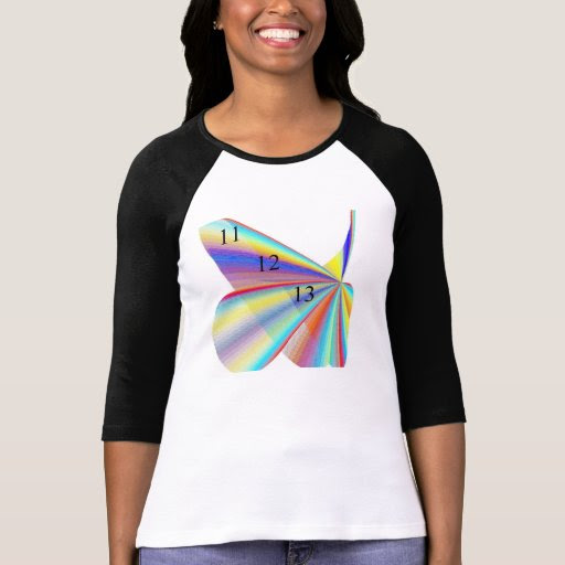 11/12/13 Rainbow Ladies 3/4 Sleeve Raglan Shirt