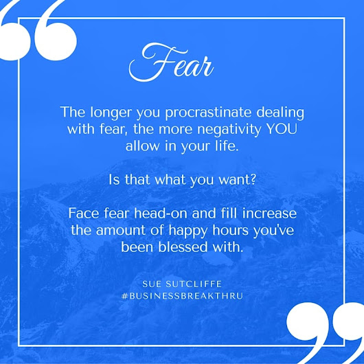 FEAR: Which quote square is best?  A or B? – Sue Sutcliffe