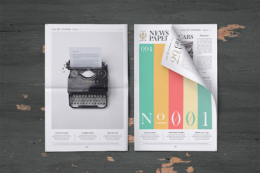 Newspaper Mockup Free PSD Download - Download PSD