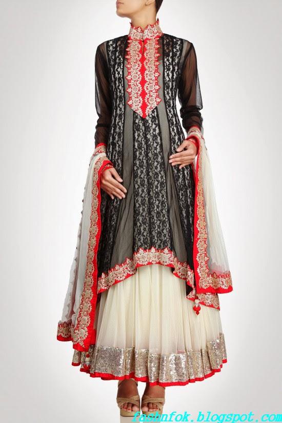 Anarkali-Gorgeous-Bridal- Wedding-Ankle-Length-Dress-by-Designer-Kiran-&-Shruti-Aksh-9