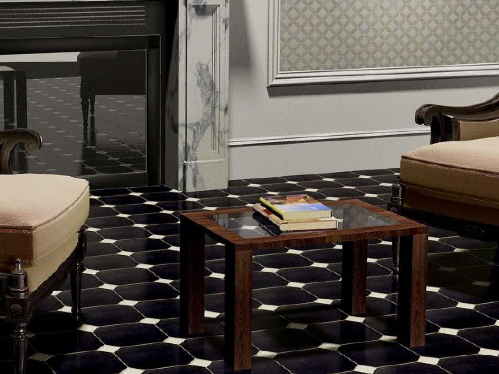 Model Keramik Lantai Ruang Tamu Hitam Unik Interior Rumah 2927