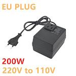 200W Voltage Converter Transformer 220V To 110V Step Down Travel Portable Household Hotel EU Plug Voltage Transformer Converter freeshipping -
