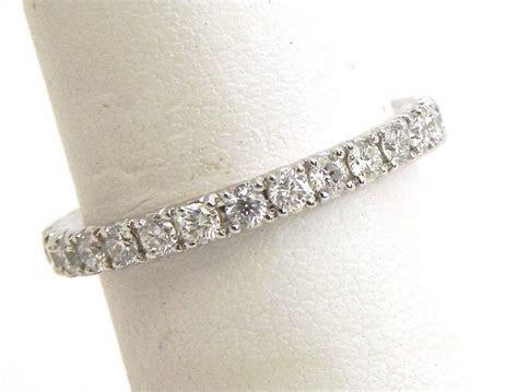 ladies  white gold diamonds eternity wedding band ring