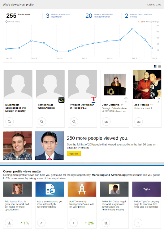 "Good News for Creepers: LinkedIn Upgrades ""Who Viewed Your Profile"" Feature"