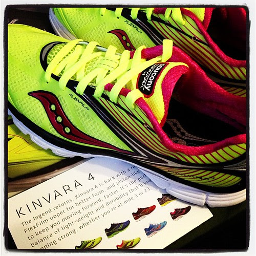 Ohhhh pretty!!! Check out my new @Saucony #kinvara4 kicks! #fitfluential