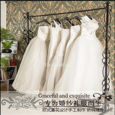 New iron art wedding dress rack, high end clothing display