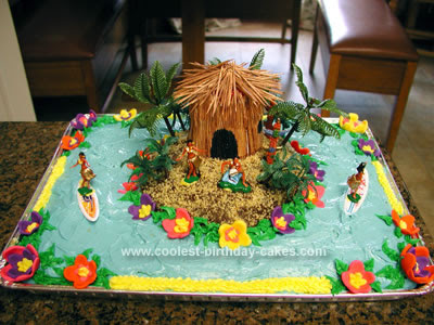 Birthday Cake Design On Coolest Luau 22