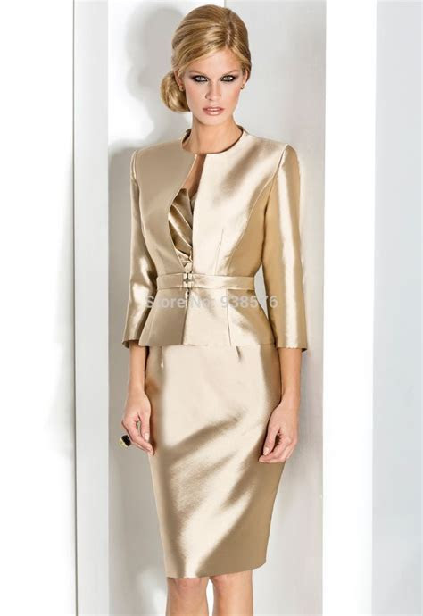 Gold mother of the bride dress with jacket yes Mother of