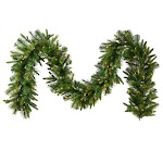 "9' x 14"" Pre-Lit Mixed Cashmere Pine Artificial Christmas Garland - Warm Clear LED Lights by Christmas Central"