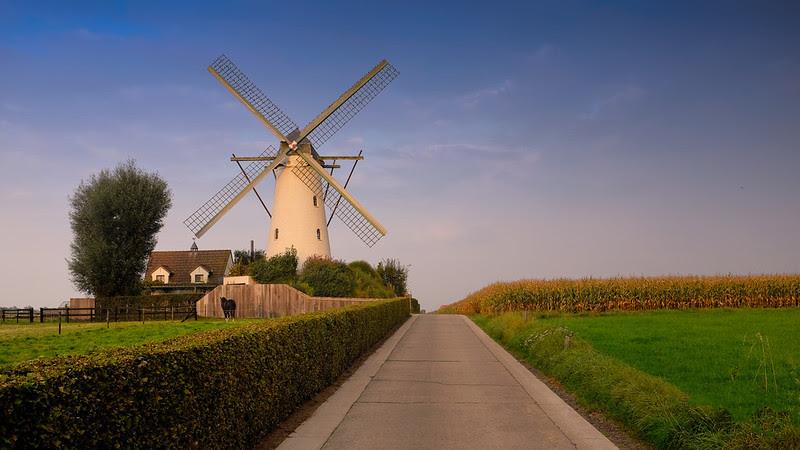 Vlinderhoute Windmill, Belgium