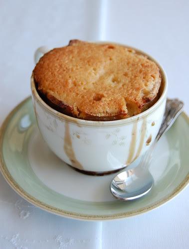 Teacup banana pudding / Bolinhos com banana assados em xícaras