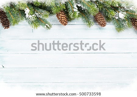 Christmas wooden background with snow fir tree. Top view with copy space for your text | Pixervatory, One search engine for a great amount photos
