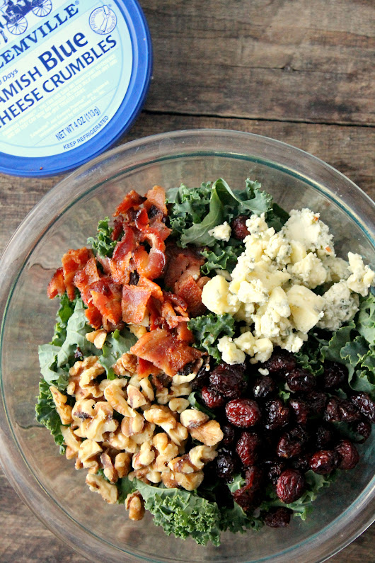 Blue Cheese Bacon Kale Salad | Natural Chow