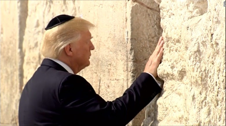Image result for trump wailing wall images