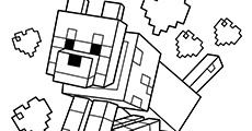 Printable Coloring Minecraft Colouring Pages Free