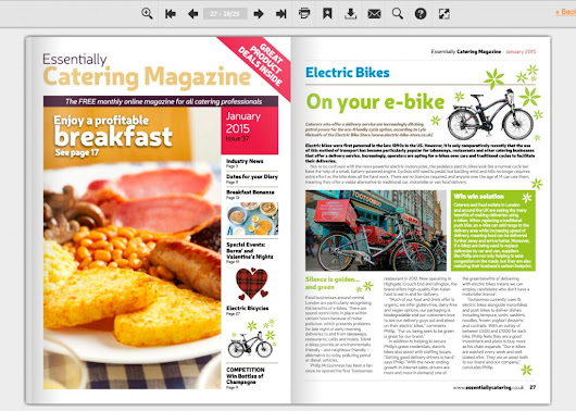 Essential E-bikes in Essentially Catering Mag