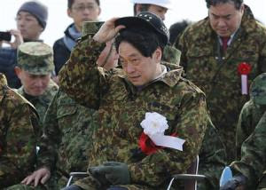 Japan's Defence Minister Onodera inspects the annual…