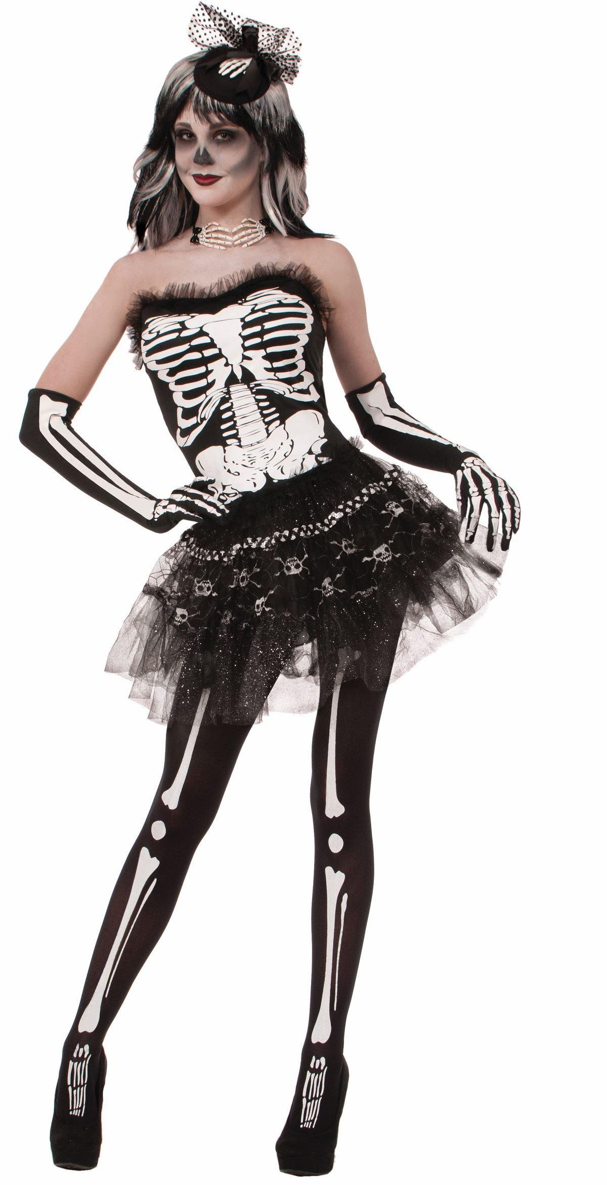 adult skeleton print women tutu  2599  the costume land