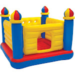 Intex Inflatable Colorful Jump-O-Lene Kids Ball Pit Castle Bouncer for Ages 3-6 by VM Express