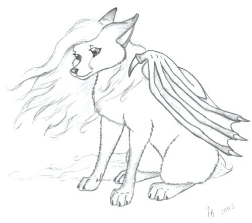 Coloring Pages Of Wolves With Wings at GetColorings.com ...