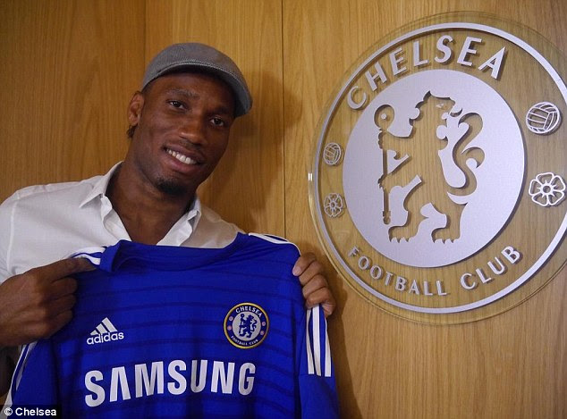 New boy: Drogba returns to Chelsea after two years away from west London