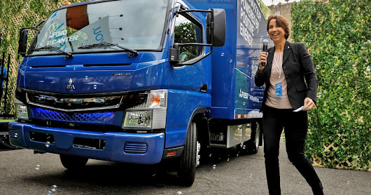 Mitsubishi electric delivery trucks are headed to the US