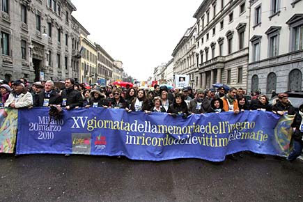Milano - Manifestazione contro la mafia di Libera