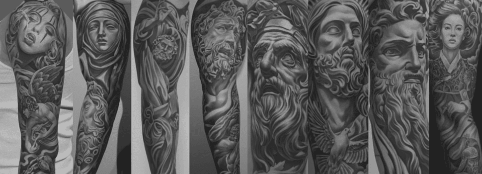 Black And Grey Tattoos The Classical Art Style That Took 2014 By