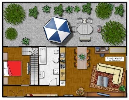 Mobili lavelli piantina di una casa semplice for Disegnare un appartamento
